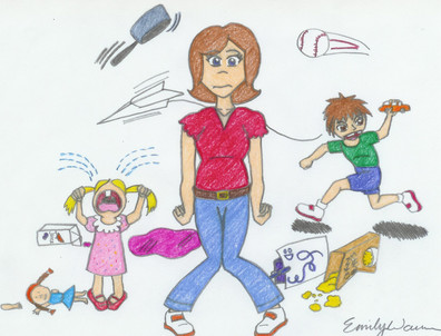 The overwhelmed by jessica. Stress clipart stressed parent