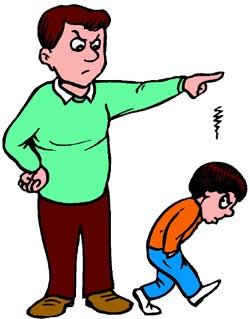 Authoritarian parents profile the. Yelling clipart strict father