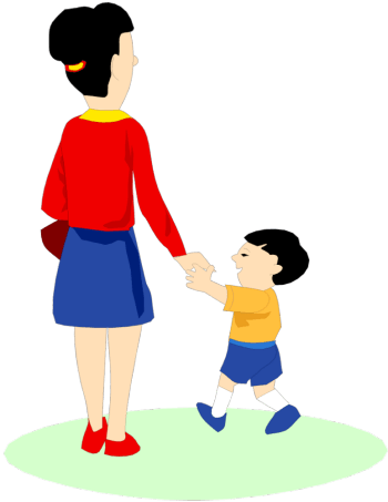 Child free download best. Parent clipart walking