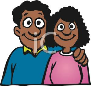 Parents clipart parent african american. Happy couple husband and