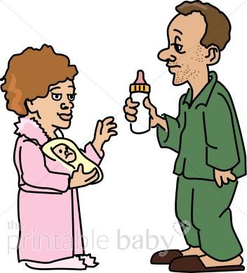 New clip art family. Parents clipart
