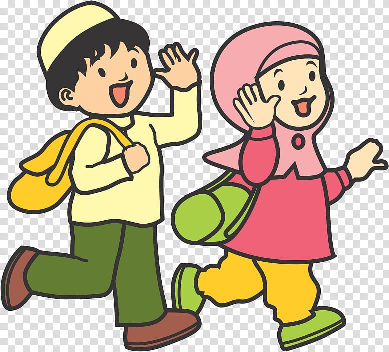 And woman illustration child. Parents clipart islamic man