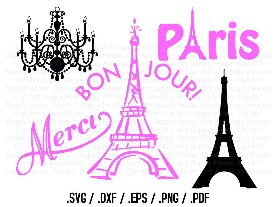 Svg files i love. Paris clipart