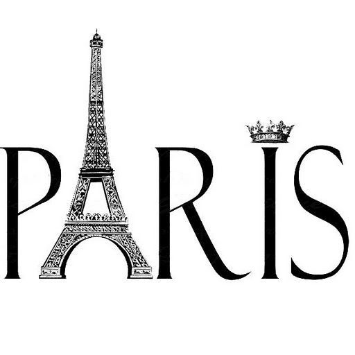 Paris clipart. Black and white google