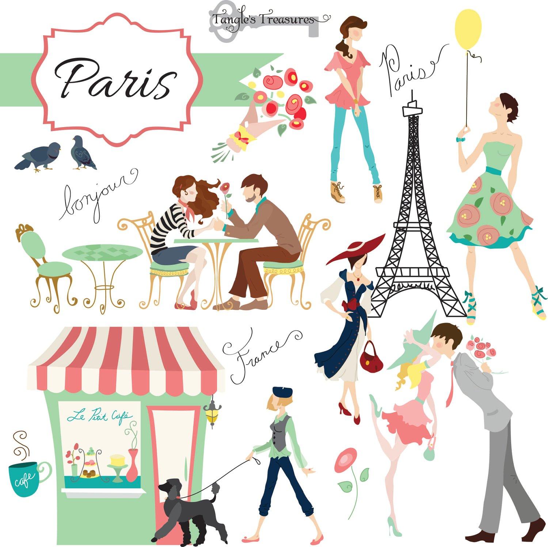 Digital set graphics creative. Cafe clipart cafe paris