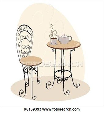 Paris clipart cafe table. Parisian drawing french