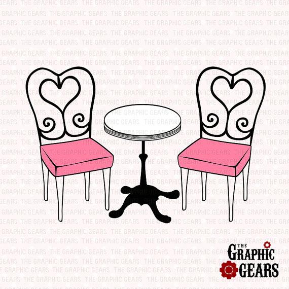Clip art library . Paris clipart cafe table