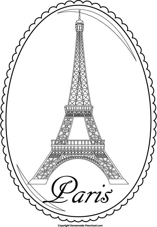 Eiffel Tower Coloring Pages | Eiffel tower pictures, Eiffel tower ... | 743x514