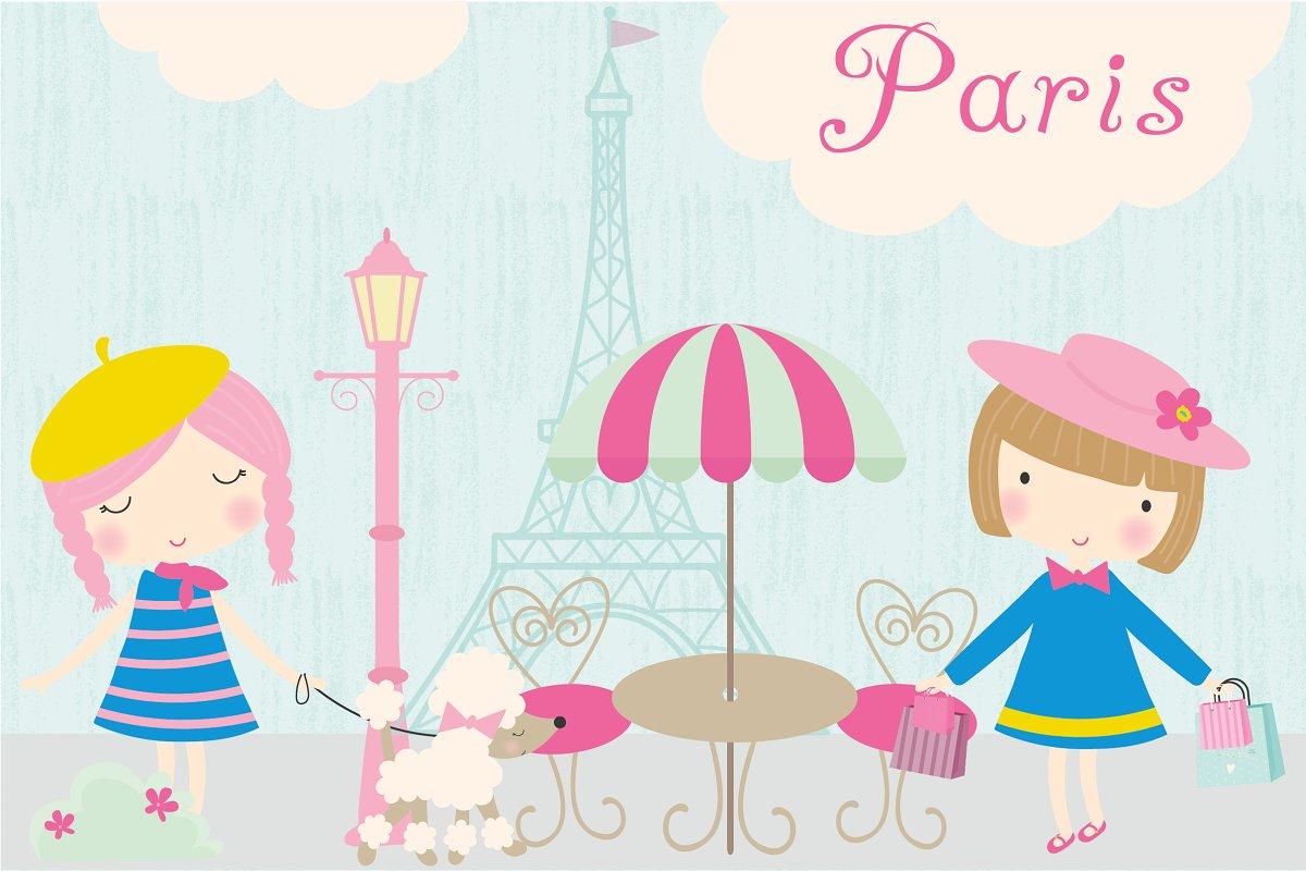 . Paris clipart cute