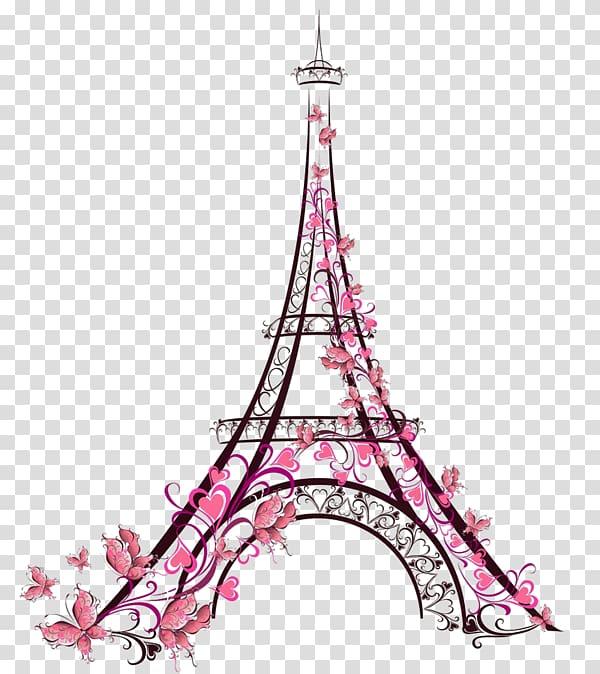 Eiffel tower illustration galata. Paris clipart drawing