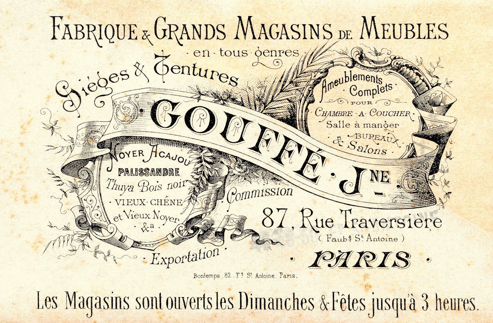 french advertising cards. Paris clipart ephemera