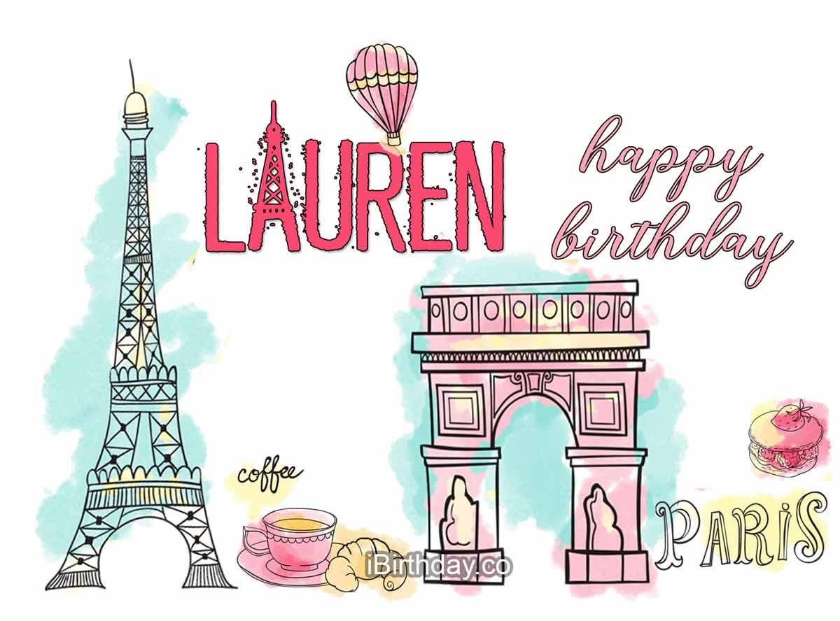 Paris clipart happy birthday. Lauren memes wishes and