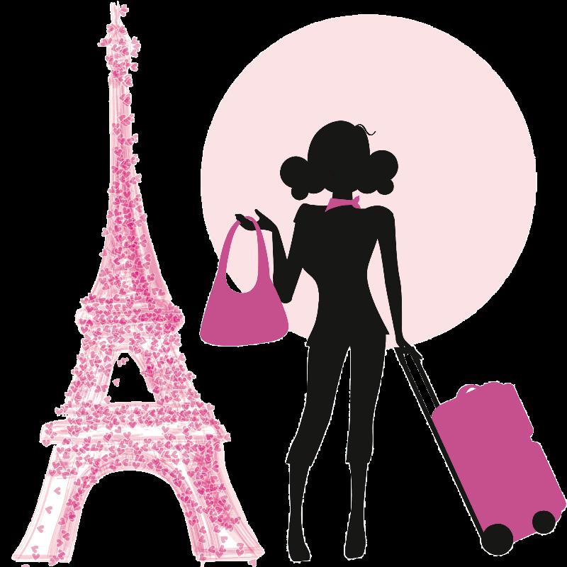 Paris clipart lady paris. Pink travel doll sweatshirt