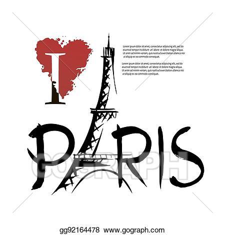 Vector stock i illustration. Paris clipart love
