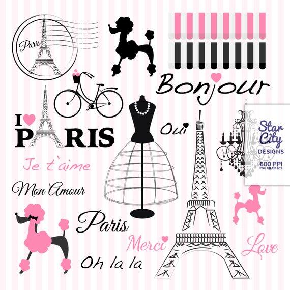 Paris clipart party paris. Poodle clip art