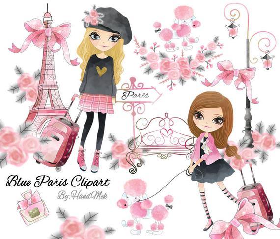 Paris clipart pink. Instant download png file