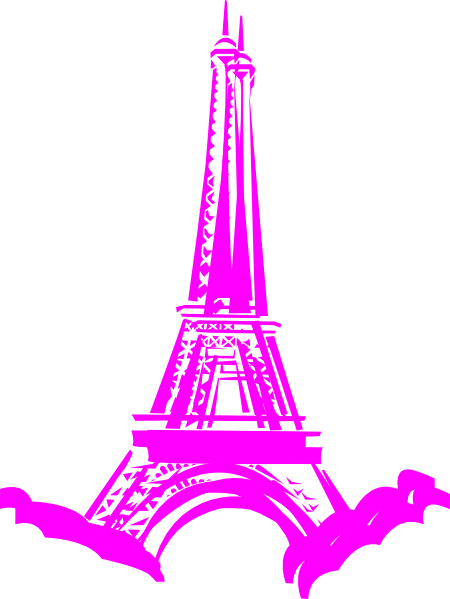 In clip art at. Paris clipart pink