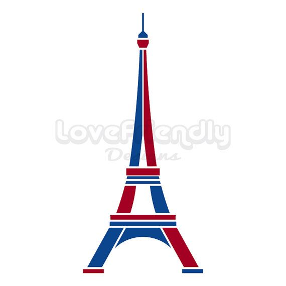 Tower clipart logo. Paris eiffel in red