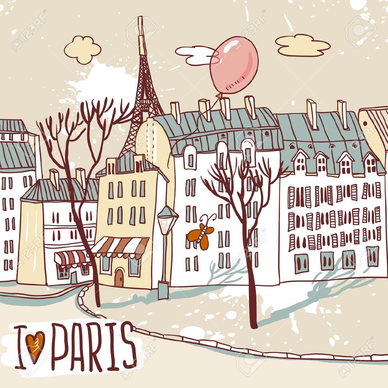 Paris clipart street paris. Cafe clip art library
