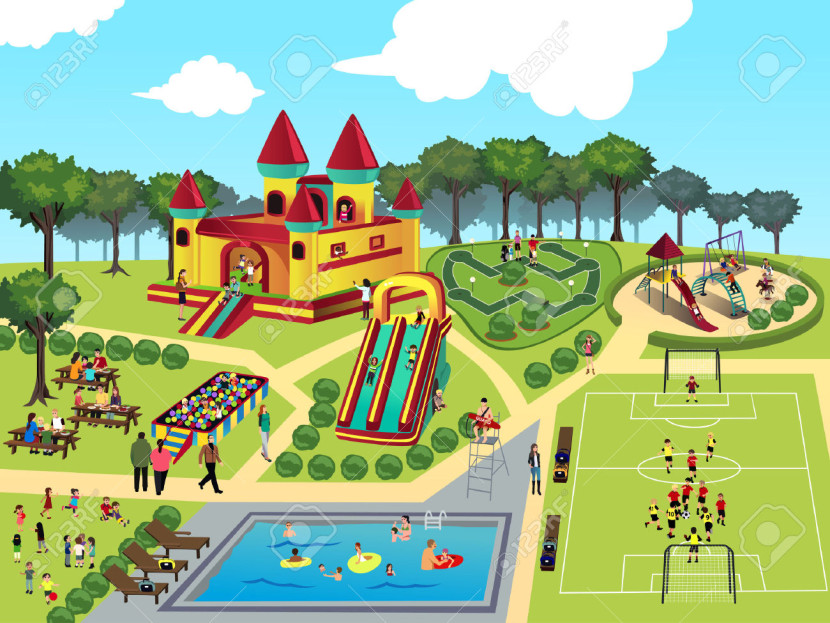 Park clipart.  collection of people