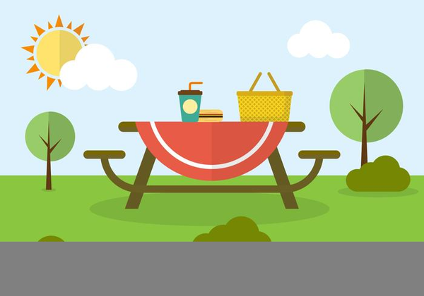 Park clipart. Picnic in the free