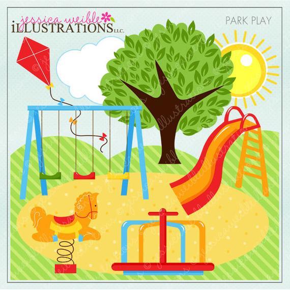 Play cute digital for. Park clipart big park