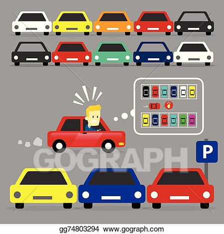 Parking lot clipart vector. Eps is full stock