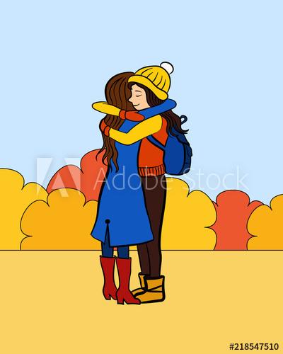 Vector illustration for greeting. Park clipart friend cartoon
