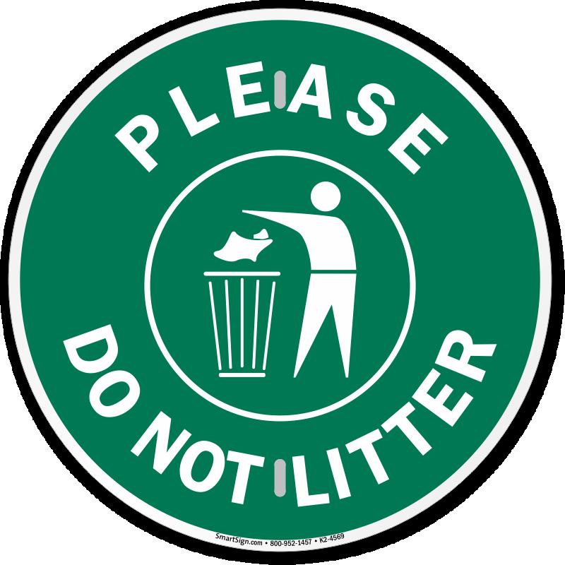 Do not litter signs. Park clipart littered