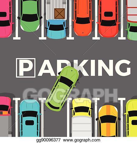 Vector stock conceptual web. Parking lot clipart parking building