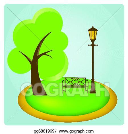 Eps illustration vector gg. Park clipart simple park