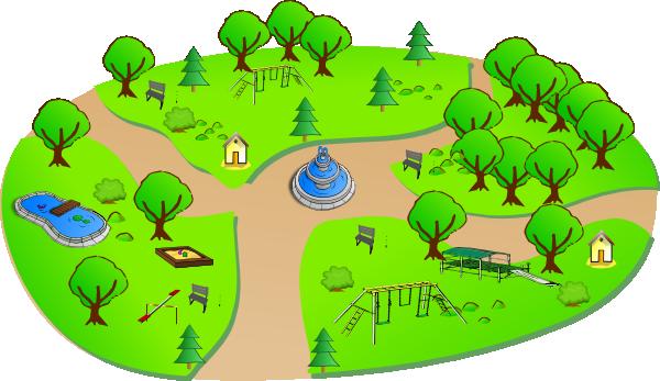 Park clipart small park. Clip art at clker
