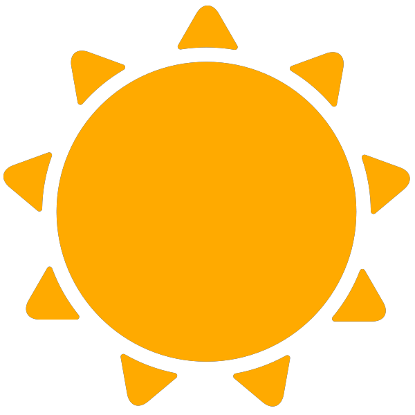 Weather icons svg vector. Sunny clipart simple