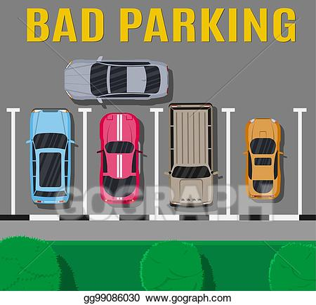 Vector art or wrong. Parking lot clipart bad parking
