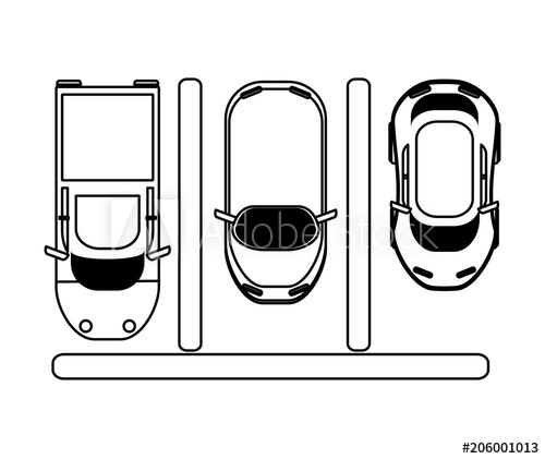 Parking lot clipart black and white. Icon over background top