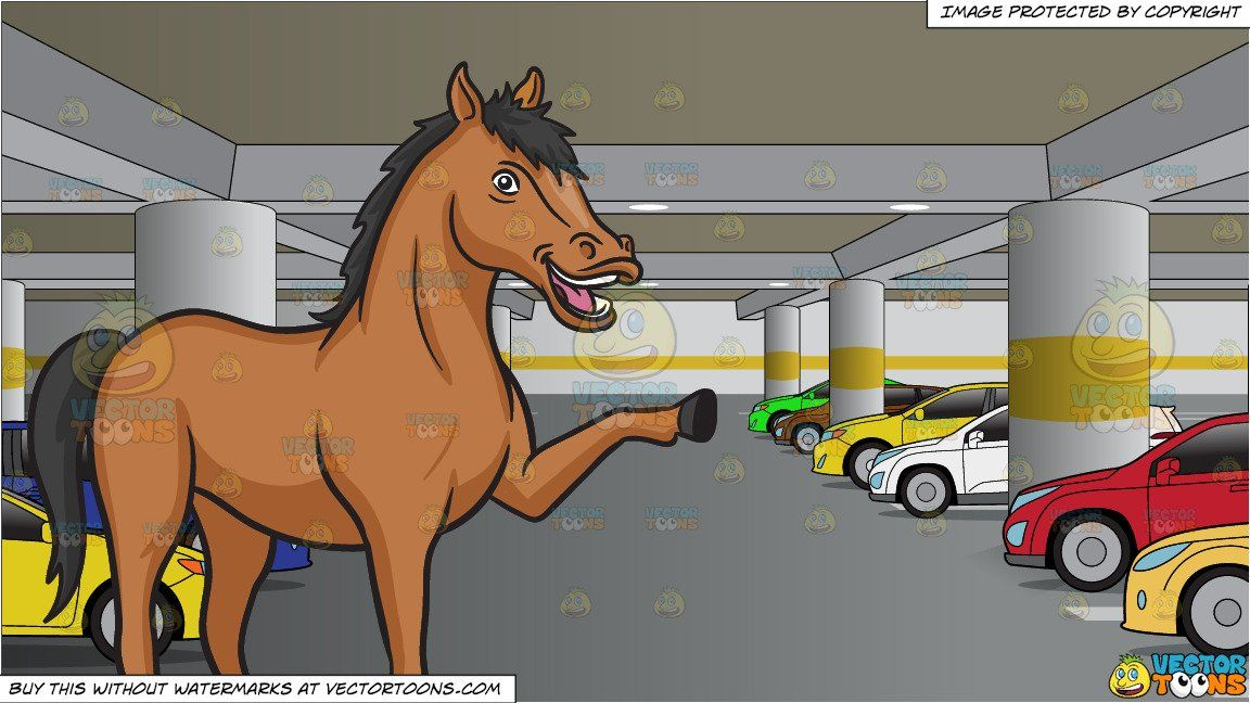 Parking lot clipart cartoon. Straight from the horses