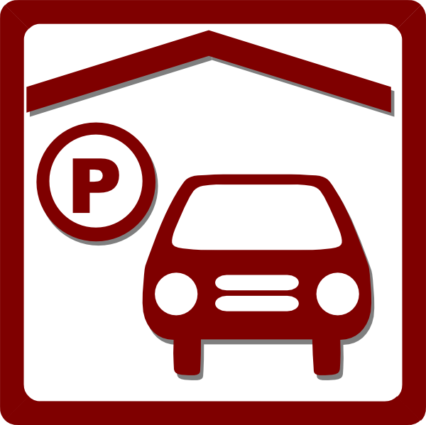 Hotel indoor red clip. Parking lot clipart icon