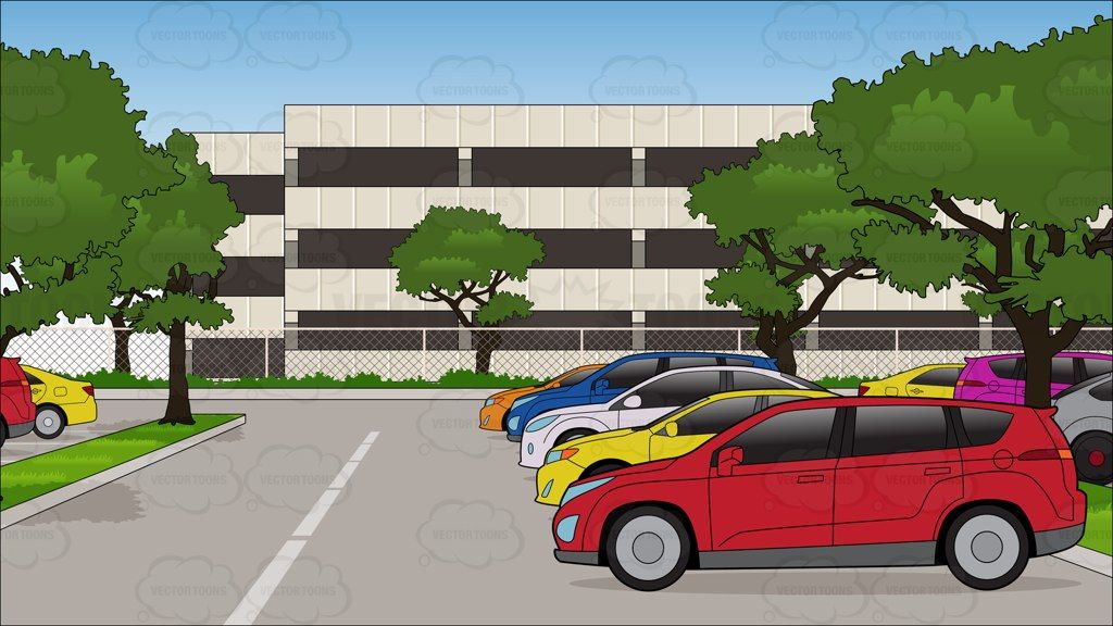 Parking lot clipart office. A full at an