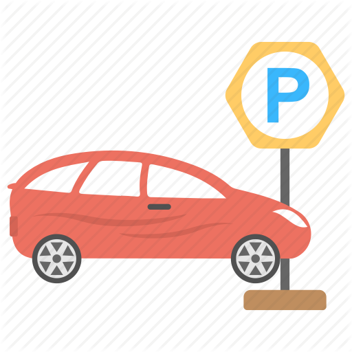 hotel and restaurant. Parking lot clipart parked car