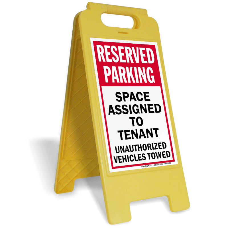Parking lot clipart parking building. Sign stands custom standing