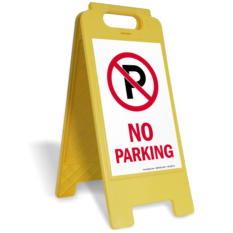 Parking lot clipart parking garage. Sign stands custom standing