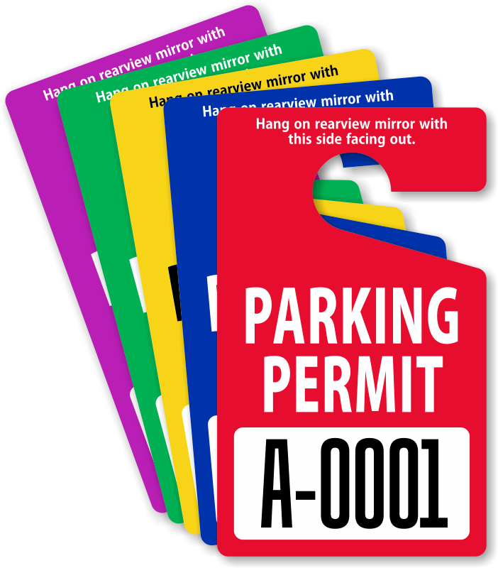 Parking lot clipart parking permit. In stock permits free