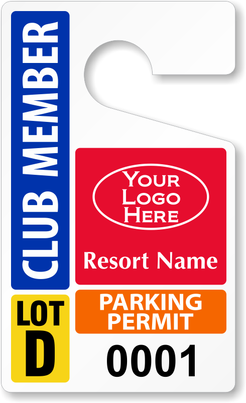 Parking lot clipart parking permit. Club permits passes zoom