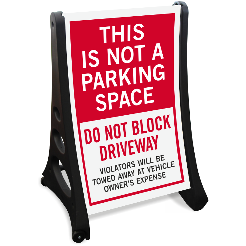 Parking lot clipart parking space. Do not block driveway