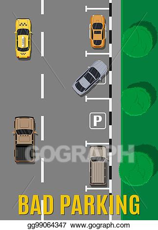 Vector art bad or. Parking lot clipart parking zone