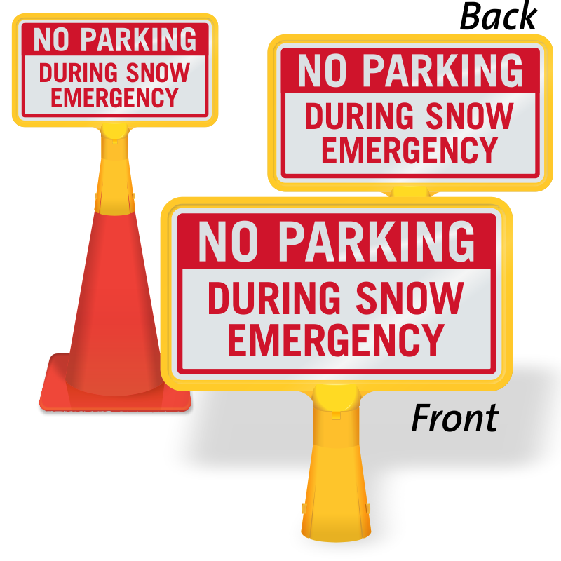 No Parking after Snowfall Signs