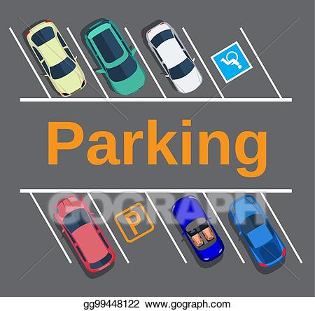 Vector stock city with. Parking lot clipart parking zone