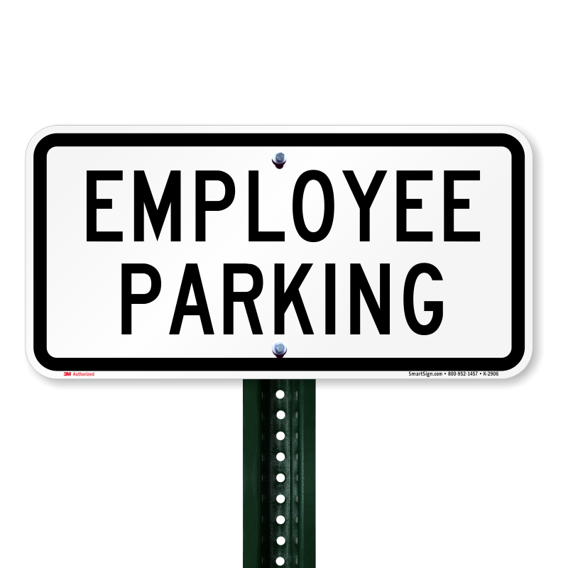 Employee sign online sku. Parking lot clipart reserved