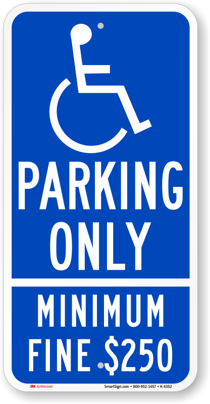 Ada signs handicapped zoom. Parking lot clipart reserved