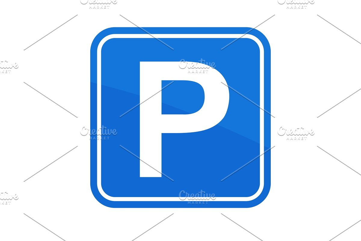 Road sign area . Parking lot clipart street parking